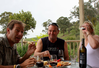 Photo: Year 2 Day 140 - Tucking in to a Cheese Platter and Wine at Yileena Vineyard