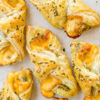 Cheesy Pesto Puffs.