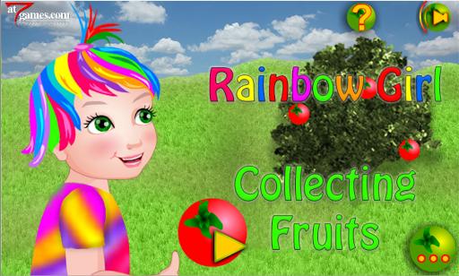 Rainbow Girl Collecting Fruits 1.0.1 screenshots 1