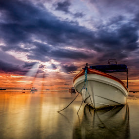 Light Talks by Ade Irgha - Transportation Boats ( explore bali, boats, reflections, rol, sunrise )