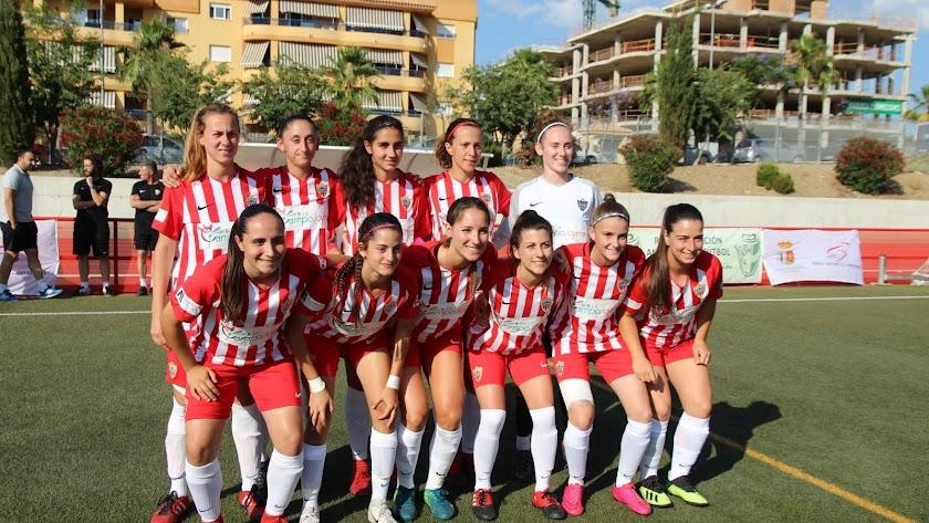 El once del Almería, en la gran final.