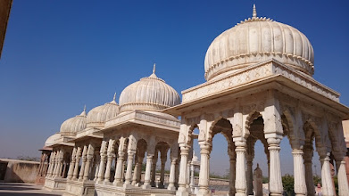 Photo: a king cremation site in bikaner
