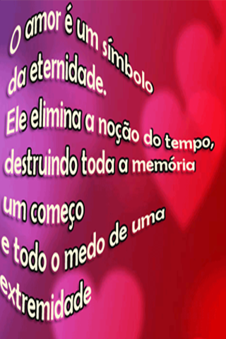 Love phrases in Portuguese- screenshot