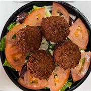 4 falafel Greek Salad