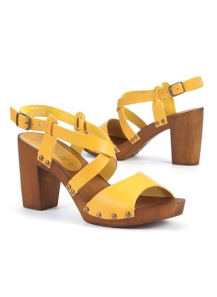 Photo: Exclusive Yellow Block Heel Clog Shoes £29.99 http://bit.ly/KAINqq