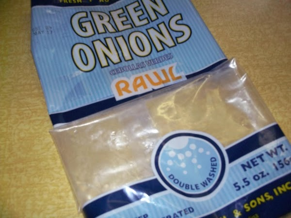 Green Onion Soup:Remove onions from package, wash, cut off end roots and cut approximately...