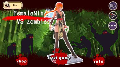 Girl Ninja VS Zombie