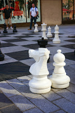 Photo: Giant chess in Quartier des Spectacles