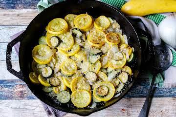 Sauteed Parmesan Zucchini & Yellow Squash