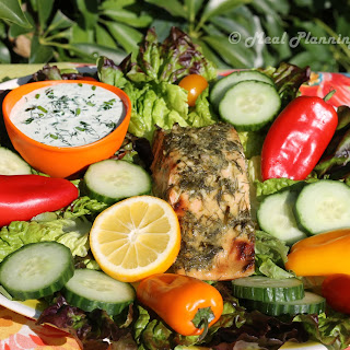 Herb-Crusted Salmon Salad