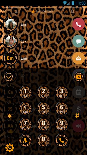 leopard contacts dialer theme screenshot 2