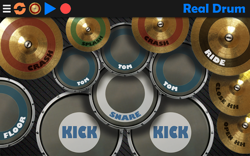 (APK) تحميل لالروبوت / PC Real Drum - The Best Drum Pads Simulator تطبيقات screenshot