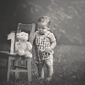Milestones by Maria Lucas - Babies & Children Toddlers ( birthday, child portrait, black and white, photography, child,  )