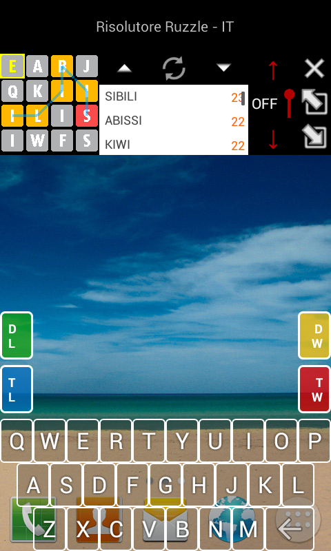 Solver for Ruzzle - French- screenshot