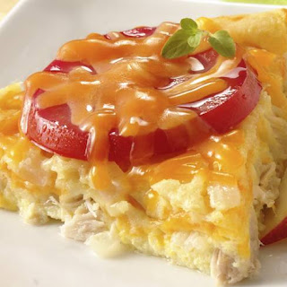 Impossibly Easy Tuna, Tomato and Cheddar Pie.