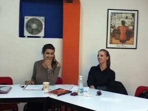 Photo: Classmates Daniela and Alexandra are from Romania and living in GTO because of their husbands work.