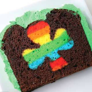 Peek-A-Boo St. Patrick's Day Cake.