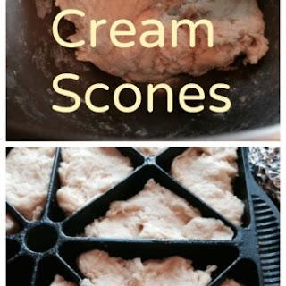 Cream Scones with Clotted Cream