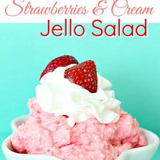 Strawberries and Cream Jello Salad.