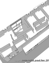 Photo: Plan perspective detail: Energy Efficient Dwelling, Rathcormac, County Cork, Ireland. The project was carried out entirely in SketchUp Pro/ LayOut