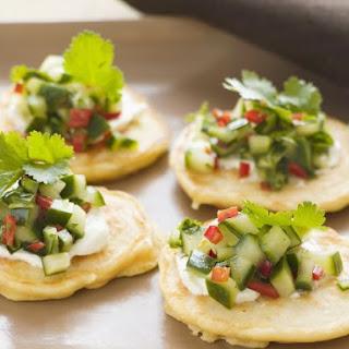 Potato Blinis with Salsa