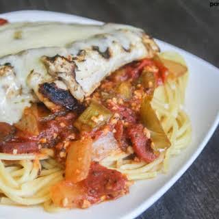 Tomato Burst Chicken Cacciatore.