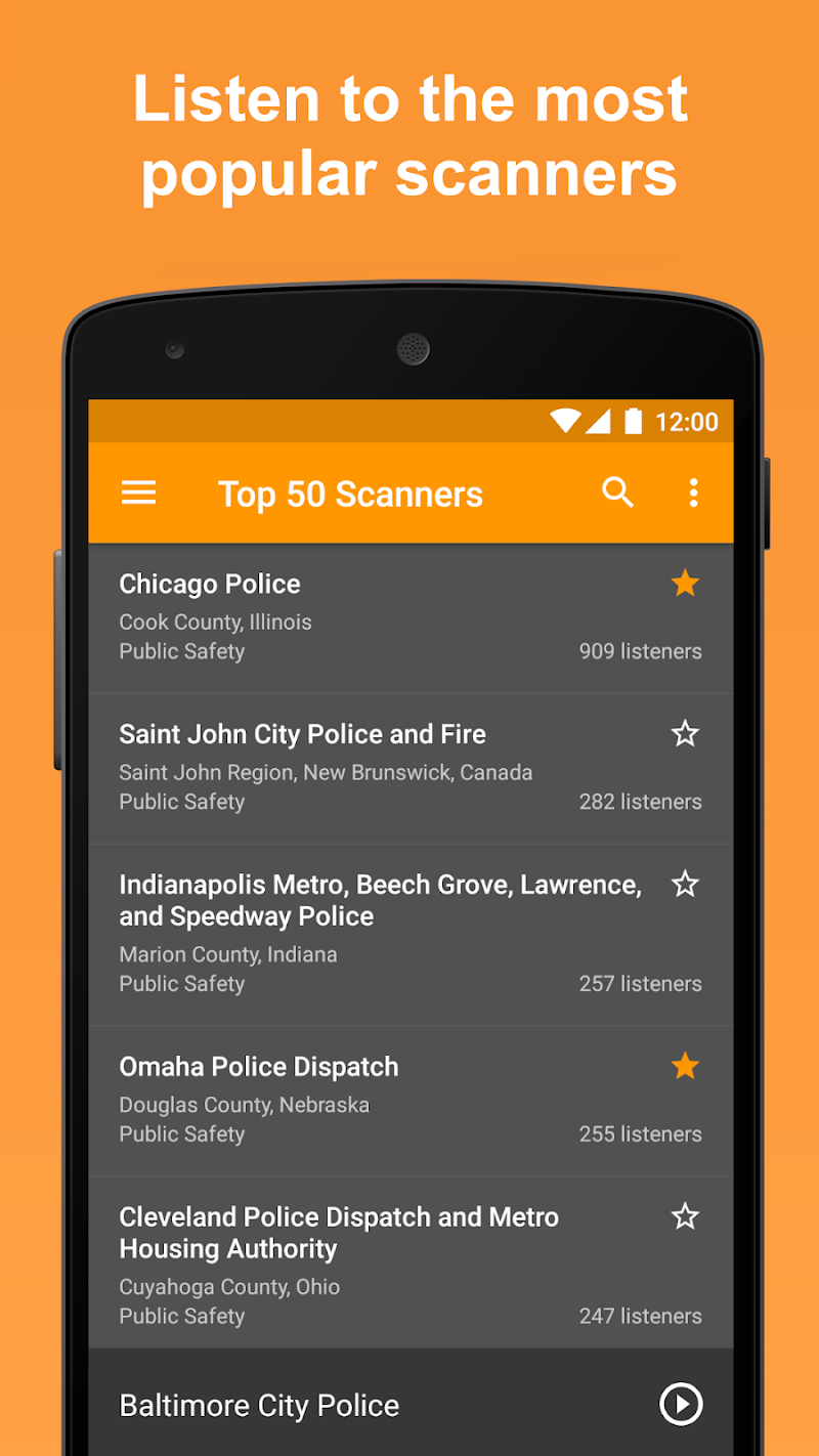 Scanner Radio Pro - Fire and Police Scanner Screenshot 2