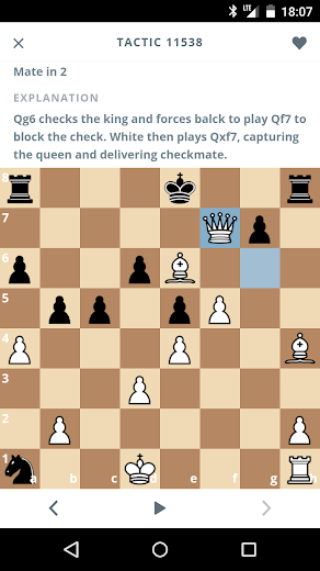 Screenshot 2 for Chesscademy's Android app'