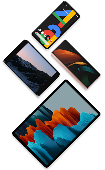 Collage of Android-powered devices