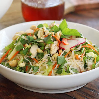 Rice Noodle Salad with Chicken and Fresh Herbs