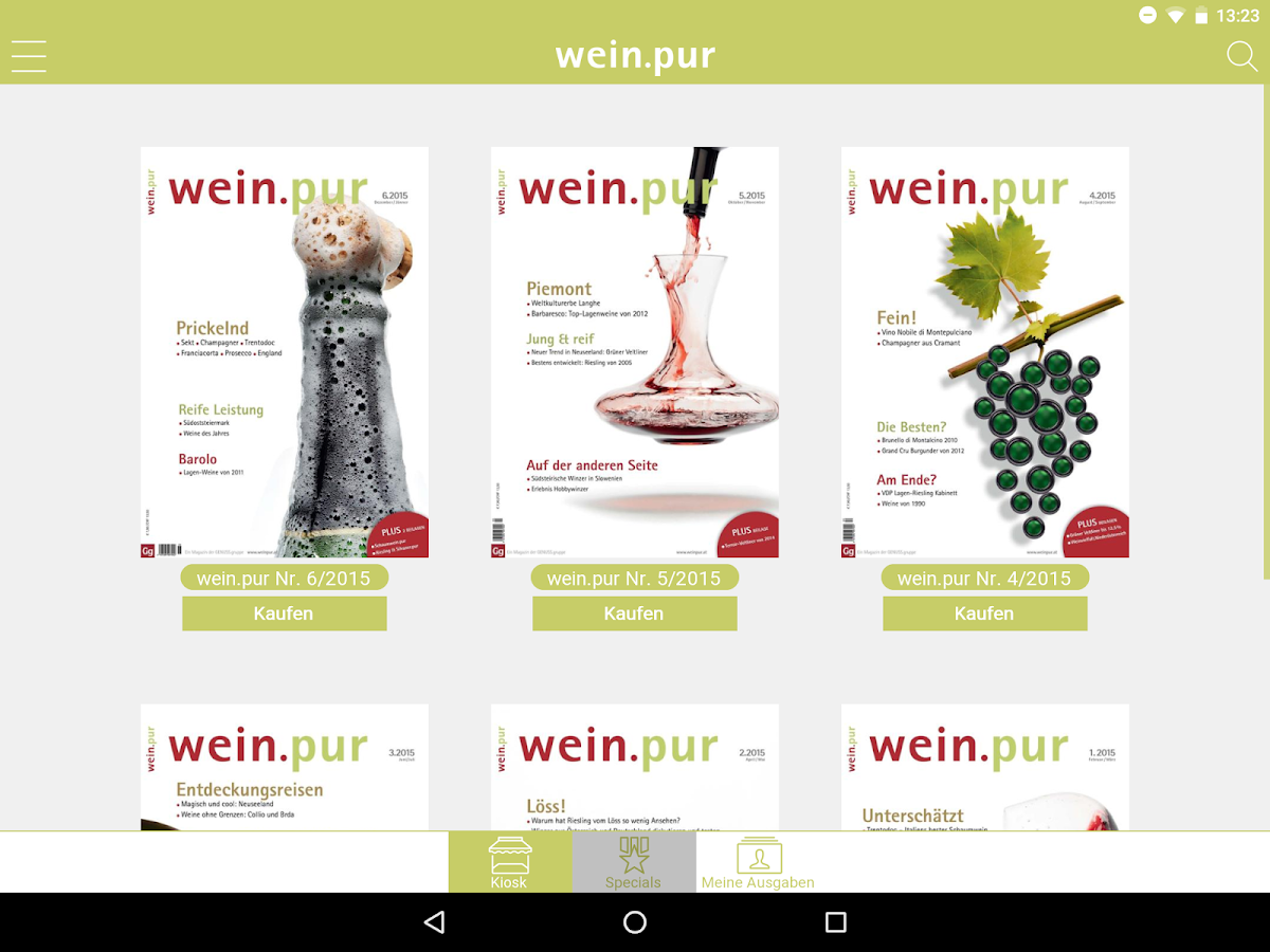 wein.pur- screenshot