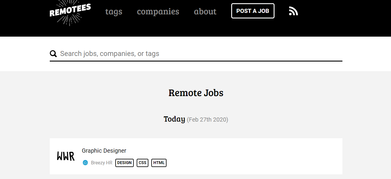 Remotees - Remote Jobs Board, best job sites for remote work