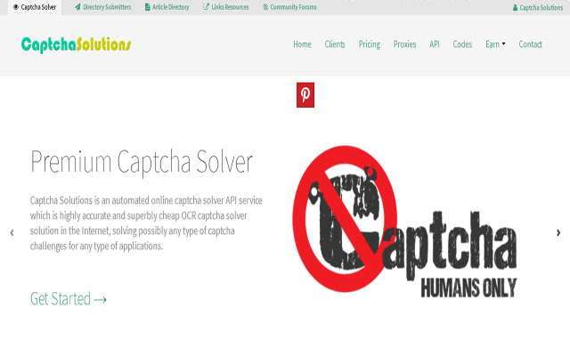 Captcha Solutions Chrome Browser Extension