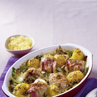 Pork Gratin with Potatoes and Cabbage.