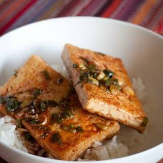 Traditional Korean Braised Tofu.
