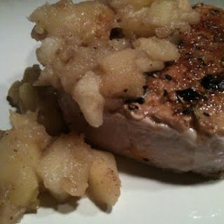 Spice Rubbed Pork with Apple Chutney Recipe