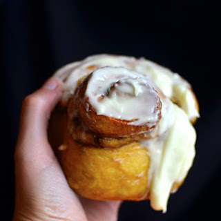 Pumpkin Cinnamon Rolls With Mascarpone Frosting