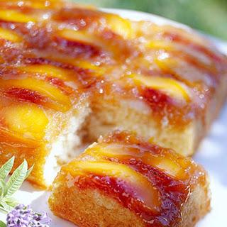 Peach Upside-Down Cake.