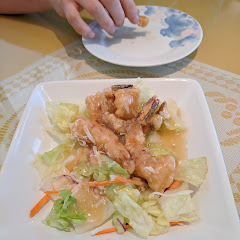 Glazed coconut shrimp