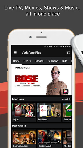 Vodafone Play Live TV Movies TV Shows News 1.0.45 screenshots 1