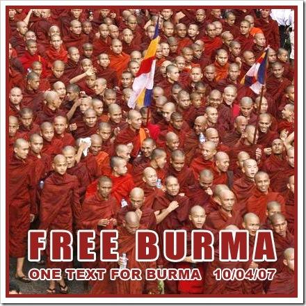 FREE BURMA! Liberdade em Burma!