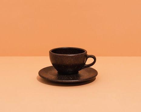 Cappuccinokopp gjord av kaffesump
