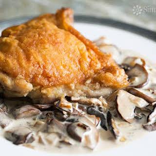 Chicken with Creamy Mushroom Sauce.