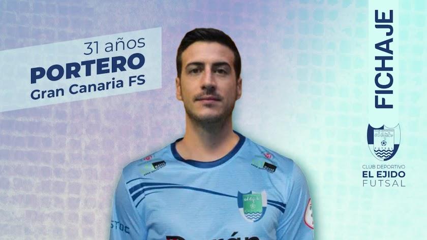 Víctor López refuerza la portería ejidense para la próxima Liga.