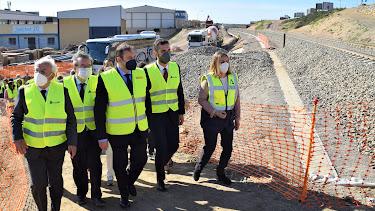Visita del ministro Ábalos a las obras del AVE en Almería hace unas semanas.