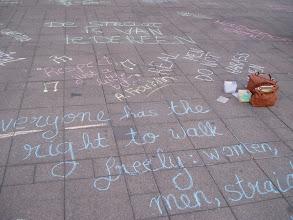 Photo: Hollaback Gent chalk walks in Belgium