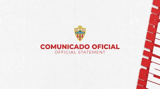 Atención: Comunicado del Almería