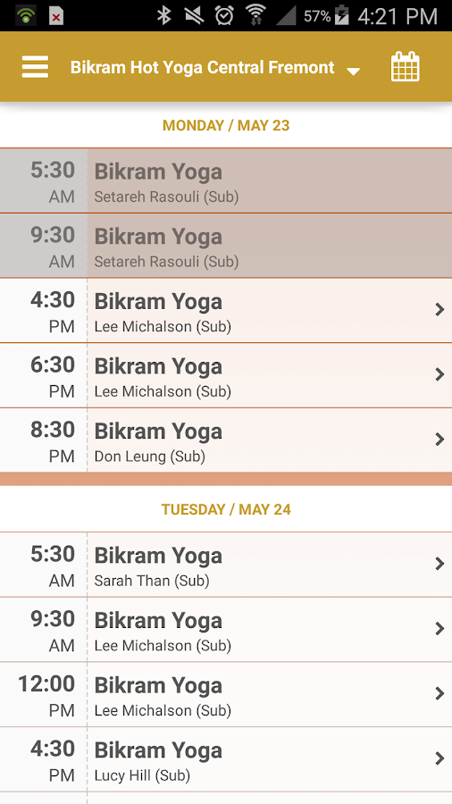 Bikram Hot Yoga CentralFremont- screenshot