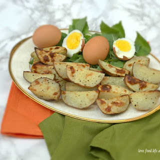 The Secret Garden Roasted Potatoes and Eggs.