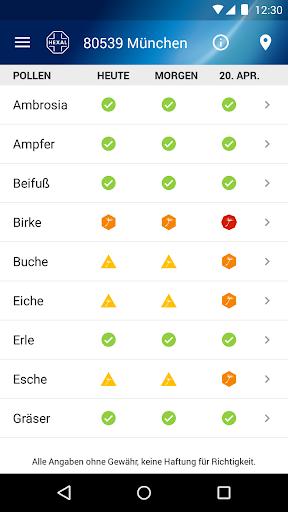 Pollenflug-Vorhersage 2.7 screenshots 3